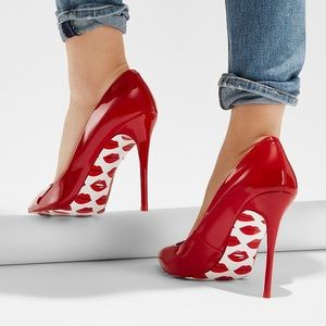 Aldo red patent pumps 💋💋